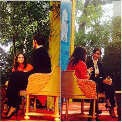 Sonam Kapoor with Anupama Chopra