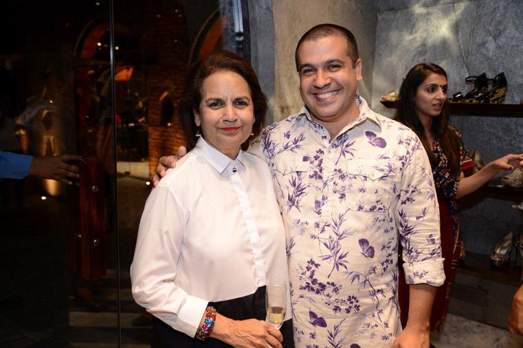 Lekha Poddar with designer Aashdeen Loilawal