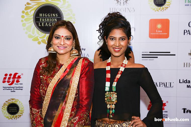 Cahru Parashar with a model