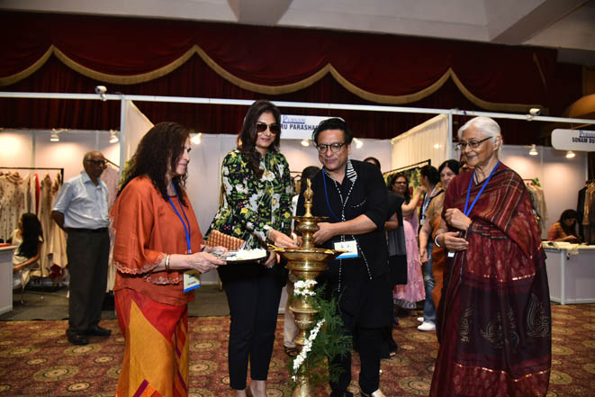 Designers Charu Parashar & Sonam Dubal inaugurating the Purnam exhibition