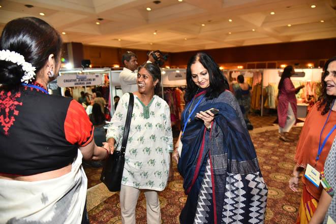 Asha Rama chandran with Sarita Baluja & Indu Gupta